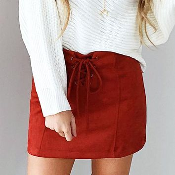 Women Ladies Clothing Skirts Cotton Vintage Stretch High Waist Plain Skater Flared Pleated Skirt Clothes Women