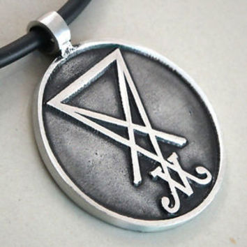 SIGIL OF LUCIFER Seal of Satan Baphomet LaVeyan Satanism sign Pewter Pendant