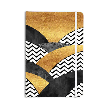 "Zara Martina Mansen ""Chevron Hills"" Gold Black White Everything Notebook"