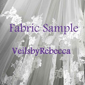 Tulle Color Chart for Wedding Veils- VeilsbyRebecca