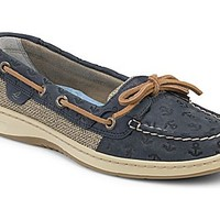 Angelfish Anchor Embossed Slip-On Boat Shoe