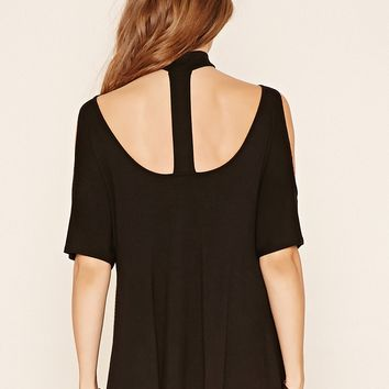 Raw-Cut Choker Top
