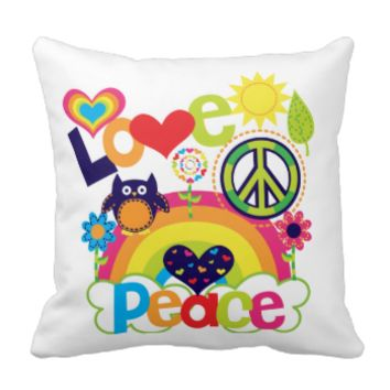 Love and Peace Pilllow Pillow