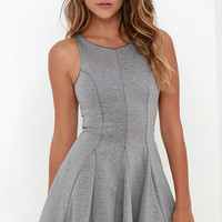 Sugar and Sass Heather Grey Dress