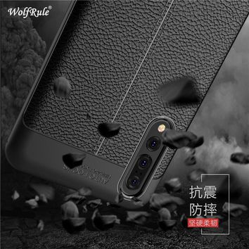 WolfRule Huawei P20 Pro Case For Huawei P20 Plus Cover Shockproof Luxury Leather TPU Case For Huawei P20 Pro Phone Funda Shell ]