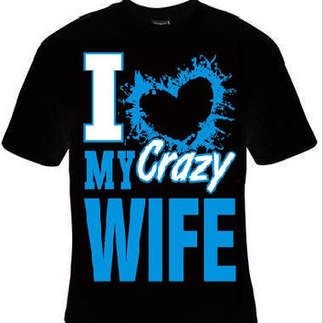 i love my wife t-shirt cool funny t-shirts cute gift present humor tee shirts jokes