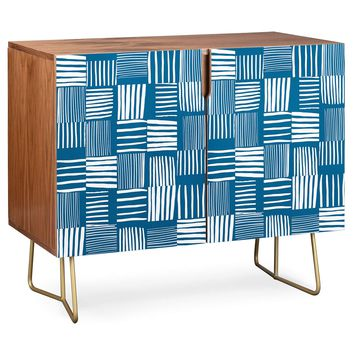 Credenza by The Old Art Studio TORN LINES ABSTRACT PATTERN 04