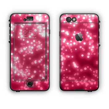 The Glowing Unfocused Pink Circles Apple iPhone 6 LifeProof Nuud Case Skin Set
