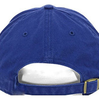Brooklyn Dodgers 47 Brand Blue 1910 Logo Clean Up Slouch Adjustable Hat Cap