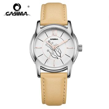 New Luxury Brand Watches Women Relojes Mujer Fashion Grace Womens Quartz Leather Waterproof Ladies Watch Montre Femme 2624