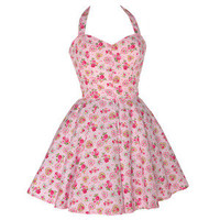 Style Icon's Closet 50s style Vintage Inspired Pin-Up African Print Retro Rockabilly Clothing — 50s Style Sweetheart Rose Print Dress