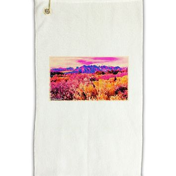 """Colorful Colorado Mountains Micro Terry Gromet Golf Towel 11""""x19 by TooLoud"""