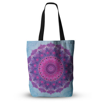 "Iris Lehnhardt ""Grunge Mandala"" Purple Blue Everything Tote Bag"