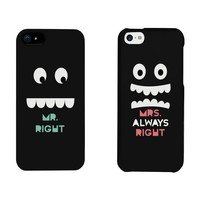 Mr Right and Mrs Always Right Matching Couple Phone Cases for iphone 4, iphone 5, iphone 5C, iphone 6, iphone 6 plus, Galaxy S3, Galaxy S4, Galaxy S5