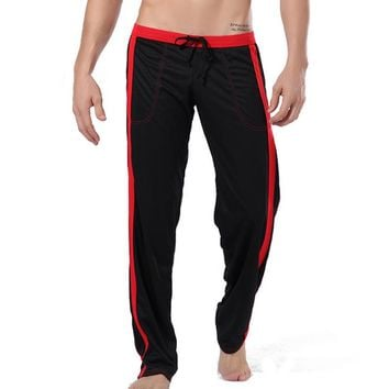 Men Loose Running Pants Sportswear pajamas Male Lounge Running Fitness Gym Trousers Home Wear Workout Gym Bodybuilding Jogging