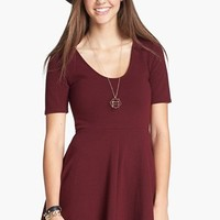 Lush Scoop Back Skater Dress (Juniors)