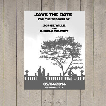 Wedding invitation Set Star Wars - Save the Date, Invitation, RSVP - Digital file