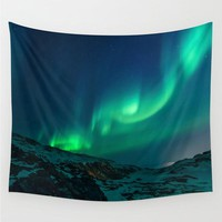 Aurora Borealis Tapestry Polyester Wall Art