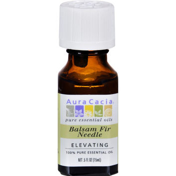Aura Cacia 100% Pure Essential Oil - Balsam Fir Needle - Elevating - .5 Fl Oz