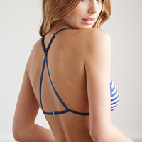 Strappy-Back Striped Bralette