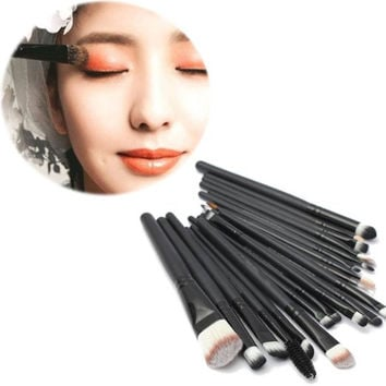 20Pcs Professional Cosmetic Makeup Application Powder Eyeshadow Face Contouring Brush Set