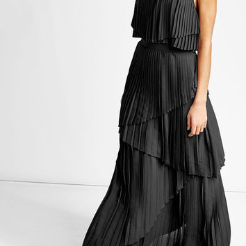 Pleated Halterneck Maxi Dress - Elie Saab | WOMEN | US STYLEBOP.COM