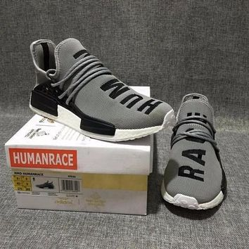 Beauty Ticks Pharrell Williams X Adidas Consortium Nmd Human Race Grey Sport Runni