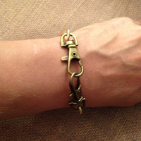Brass Toggle Bangle Bracelet
