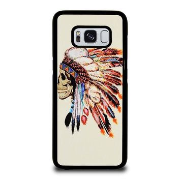INDIAN FEATHER SKULL Samsung Galaxy S8 Case Cover