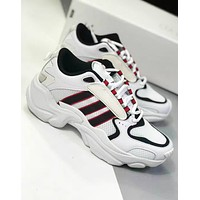 Adidas Magmur Runner & NAKED New fashion mesh leisure couple shoes White