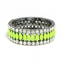 Bold Marquise Stretch Bracelet