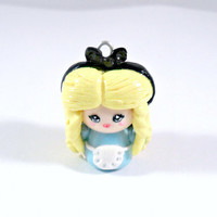 Alice In Wonderland Chibi, Choose Charm, Keychain, or Necklace :)