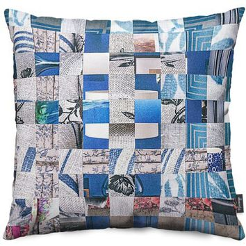 Catalogue Blues Throw Pillows by Jan Bickerton | Nuvango
