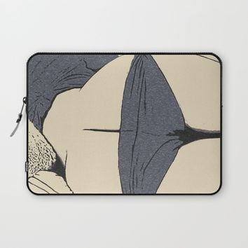 Mature art, sexy booty view, sleeping girl in kinky lingerie, erotic nude, naughty posing Laptop Sleeve by Peter Reiss