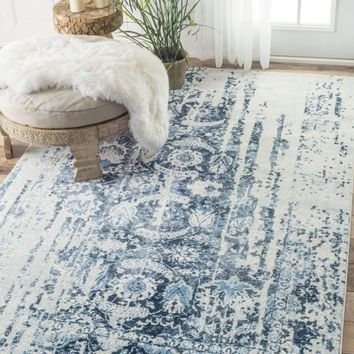 nuLOOM Distressed Ernestina Flourish Area Rug