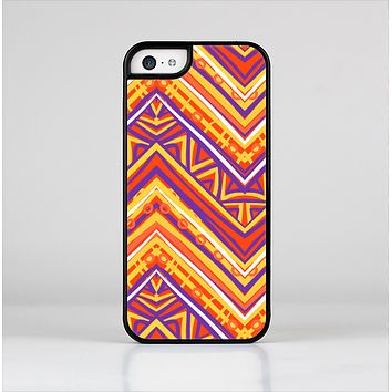 The Red, Yellow and Purple Vibrant Aztec Zigzags Skin-Sert for the Apple iPhone 5c Skin-Sert Case