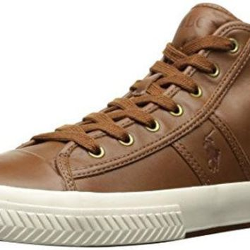 DCCK8BW Polo Ralph Lauren Men's Tremayne Sneaker Brown 12 D US