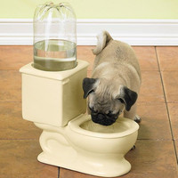 CSB Toilet Bowl Dog and Cat Fountain