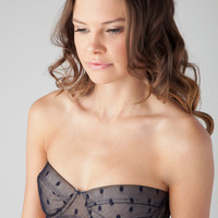 Zimmermann Riot Underwire Bra in Navy Dot