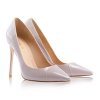 Shoes: 'PARIS' Mink Patent Leather Pointy Toe Heels 4""
