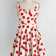 Fruits Mid-length Tank top (2 thick straps) Fit & Flare Pull Up a Cherry Dress in White by ModCloth