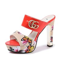 GUCCI Women Fashion Heels Sandals Shoes/fashionsel