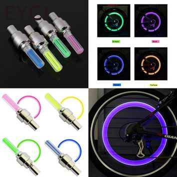 EYCI 1 Pair Bicycle Bike Car LED Neon Tire Wheel Gas Nozzle Valve Core Glow Stick Light For Cycling