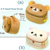 "San-X Rilakkuma 6.3"" Small Train Trunk Purse"