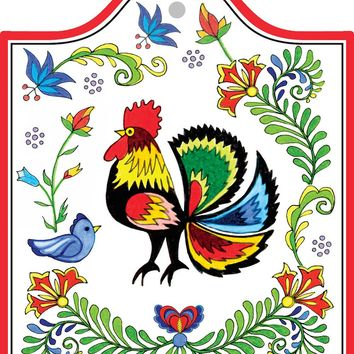 Decorative Ceramic Cheeseboard: Rooster
