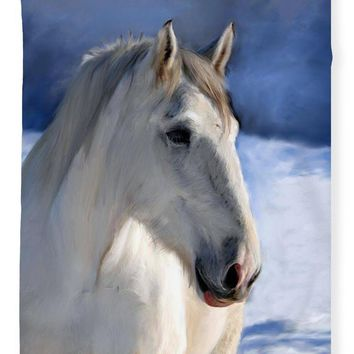 Horse In Winter Landscape - Blanket