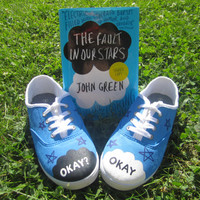 The Fault in Our Stars Themed Hand-Painted Sneakers