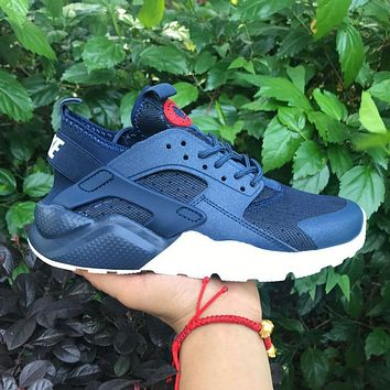Best Online Sale Nike Air Huarache 4 Rainbow Ultra Breathe Men Women Hurache Blue Runn