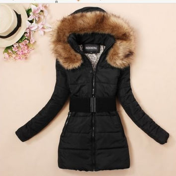 2014 Women's padded winter warm fur collar jackets coat jacket  XL XXL XXXL,XXXXL = 1920065348