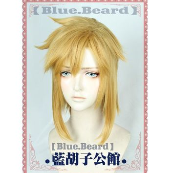 Link Golden Wig Cosplay the Legend of Zelda Cosplay Wig Hair Role Play Golden Color Halloween Role Play Hair